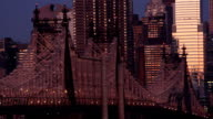 Queensboro Bridge at night video