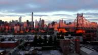 Queensboro Bridge during sunrise video