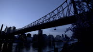 Queensboro Bridge  in the spring dolly shot video