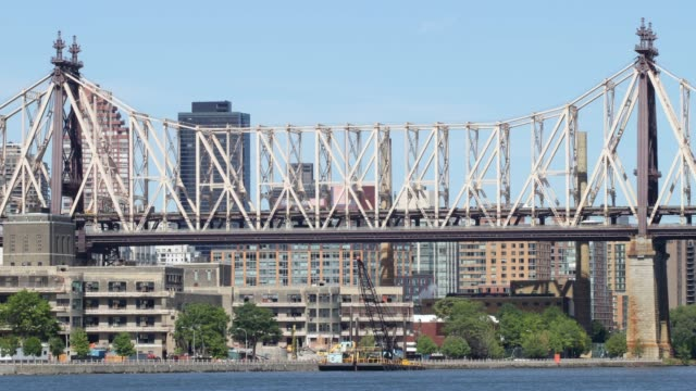 queensboro bridge panorama 4k time lapse from new york city video