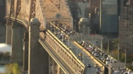 Queensboro Bridge Traffic in New York City video