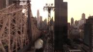 Queensboro Bridge Tram View in New York City video