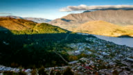 Queenstown downtown  view New Zealand video