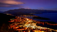Queenstown downtown  view New Zealand video