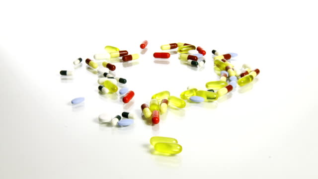 HD STOP-MOTION: Question Mark With Medicaments video