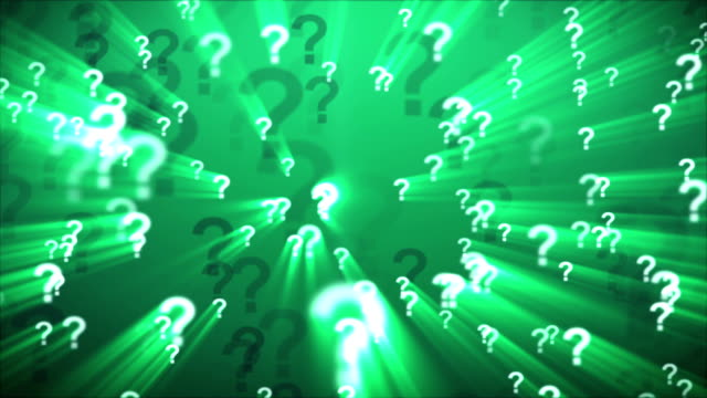 Question Marks Green video