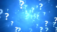 Question Marks loopable animation video