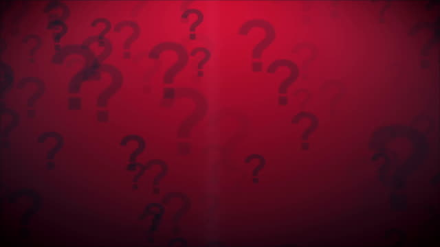 Question Marks Red video