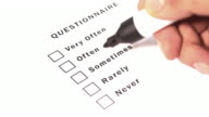 Questionnaire Form Ticking Often video