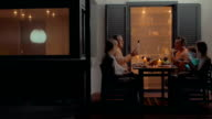 Quiet family dinner in late evening video