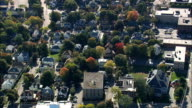 Quincy  - Aerial View - Massachusetts,  Norfolk County,  United States video