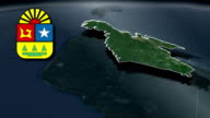 Quintana Roo whit Coat of arms animation map video