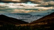 quito city form pichinca mountain timelapse video