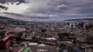 quito ecuador city timelapse video