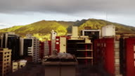 quito ecuador city with pichincha timelapse of sunrise with buildings video