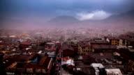 quito ecuador ciudad timelapse virgen del panecillo video