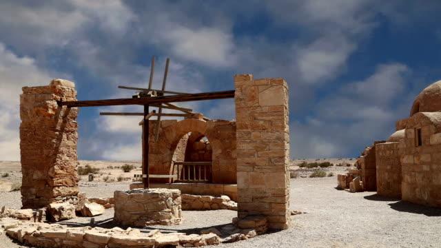 Quseir (Qasr) Amra desert castle near Amman, Jordan. World heritage with famous fresco's. video