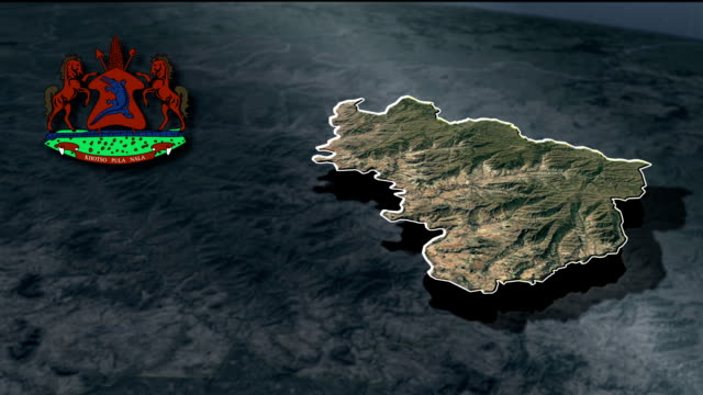 Quthing with Coat Of Arms Animation Map video