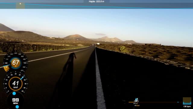 Race bike data video