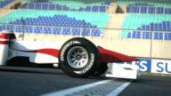 Race car crossing finish line video