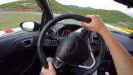 Race Car Driving POV video