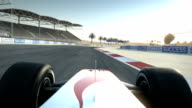 Race car on desert circuit - driver's POV video