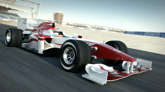 Race car on desert circuit - passing camera video