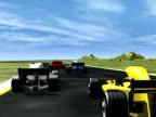 3D race cars rear view NTSC video