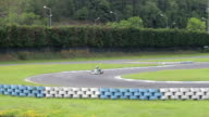 racer on go-kart competition video