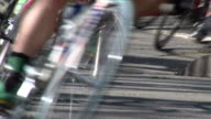 Racing Bicycles Through Turn video
