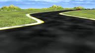 3D racing cars HD 1080i video
