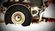 Racing kart Wheelslip with loud engine sound video