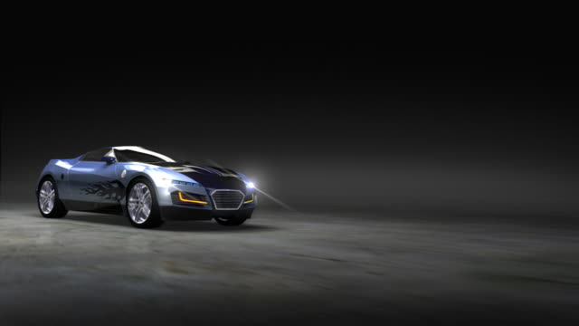 Racing Sports Car with abstract light streaks video