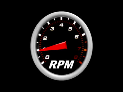Racing Tachometer Revving Engine Animation video
