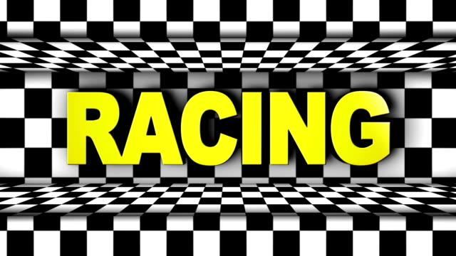 Racing Text in Checker Door video