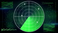 radar screen loopable technology background video
