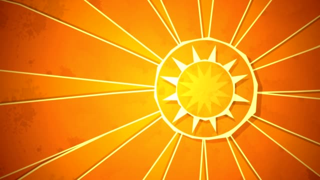 Radial Sunshine Loop HD video