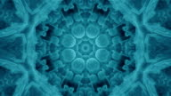 Radiating Seamless Blue Fractal Kaleidoscope Background from Bacteria video