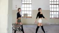 Radio and old school dance video