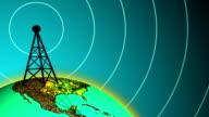 Radio Station Broadcasting Signal at Daylight video