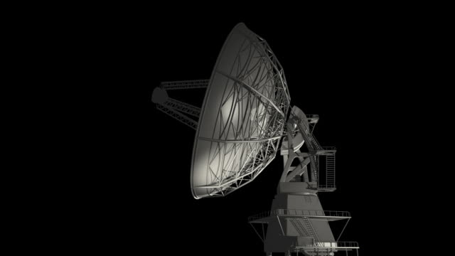 Radio Telescope on Black Render video