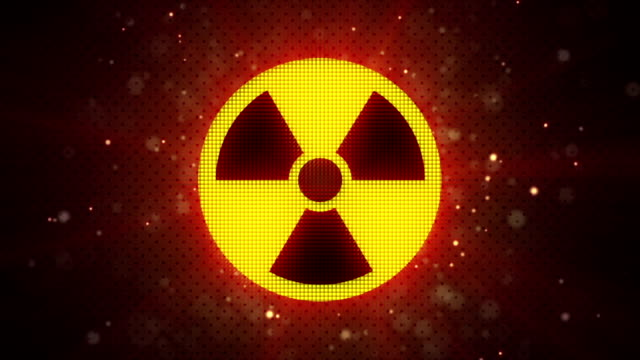 radioactive symbol loopable industry background video