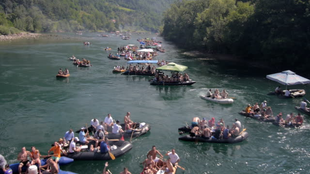 Rafting on river Drina video