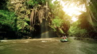Rafting trip at Tee lor su waterfall Tak Thailand video