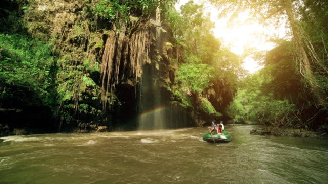 Rafting trip at Tee lor su waterfall Tak Thailand video