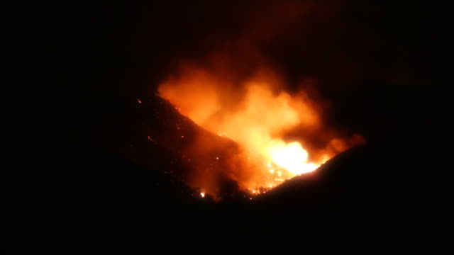 Raging Fire on Southern California hillside video