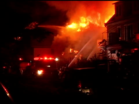 Raging House Fire at night video