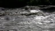 Raging river. Runaway lifesaver ring. video