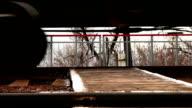 Rail freight train rumbles by wheels video