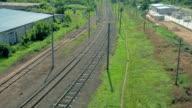 Railroad. Aerial view video